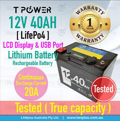 12V 40AH Lithium Battery Lifepo4 Rechargeable li-ion Portable Power Station