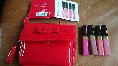 Elizabeth Arden Lip Glosses With Red Pouch New