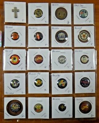 Christian Church Jesus Easter Cross Religious Pin Pinback Button Lot of 20