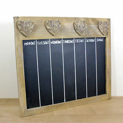 36X41CM  Wood Blackboard Retro Felt Letter Characters Appointment Message Board