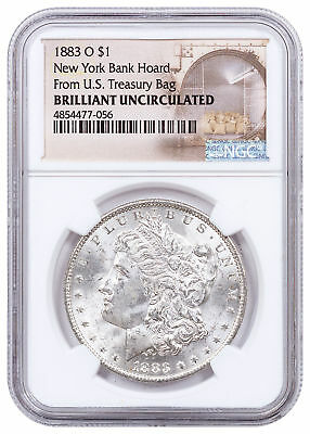 1883-O Morgan Silver Dollar From the New York Bank Hoard NGC BU SKU54934