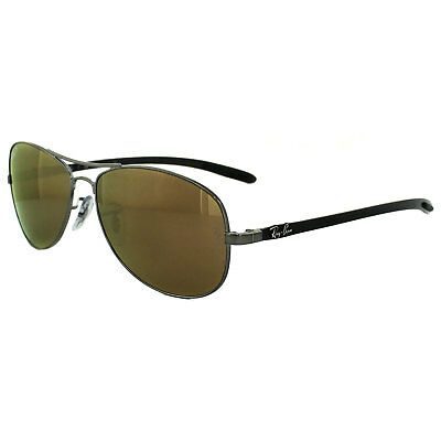 dfde07a53a4a Ray-Ban Sunglasses 8301 004 N3 Shiny Gunmetal Grey Brown Mirror Gold  Polarized