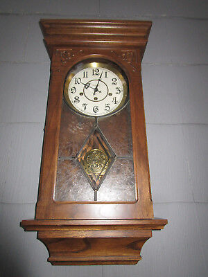 Ansonia Oak Westminster Chime Pendulum Wall Clock - One Owner All Paperwork