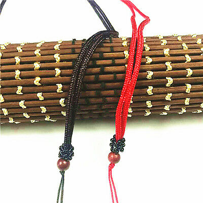 5 pcs JADE string cord For Pendant  Buddhist Round wood beads Loose rope