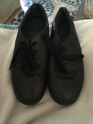 Girls Size 6 Split Sole Tap/Clogging Shoe, All Black (Taps Not Installed)
