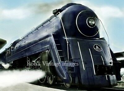 B & 0 Baltimore & Ohio Royal Blue photo  5304 Railroad Bullet train 1940s #2