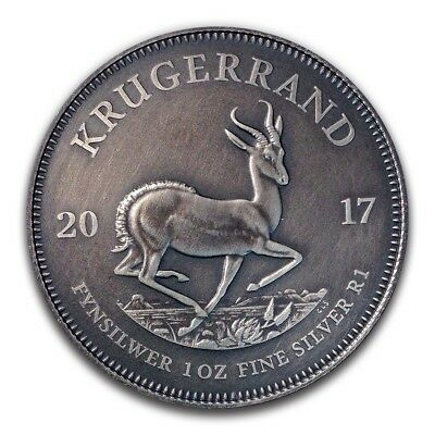 South African Antique Silver Krugerrand – 2017 1 Oz Pure Silver Coin