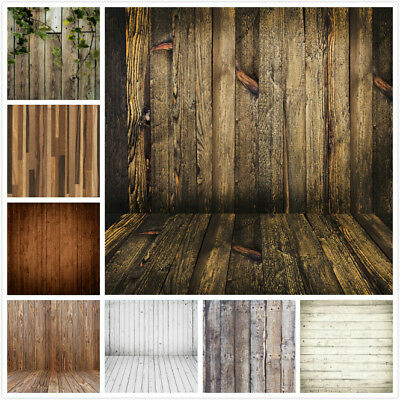 Retro Wood Plank Wall Floor Photography Backdrop Studio Photo Props Background