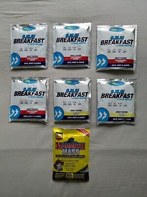 NRG Fuel O.M.G Breakfast Meal Replacement Shakes - 6 Sachets + One Weight Gainer