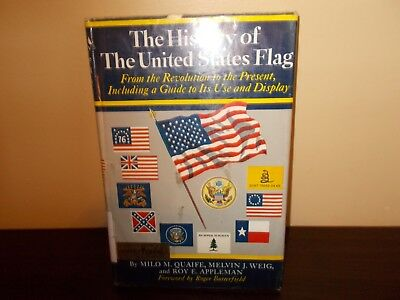Vintage 1961 The History of The United States Flag Ex-Library