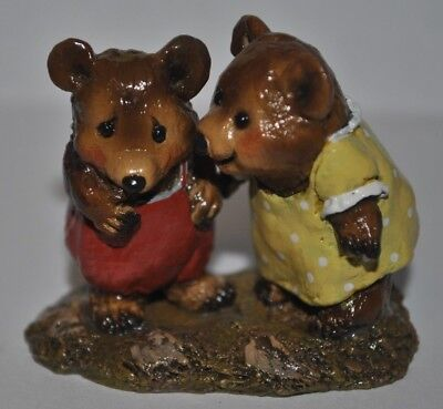 Wee Forest Folk WFF DON'T BE SHY BB-1 Figurine 1995 BEARS