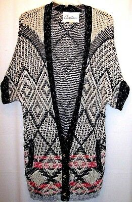 CAROL ANDERSON Sweater/Jacket/Tunic, Size S, Textured Cotton Blends