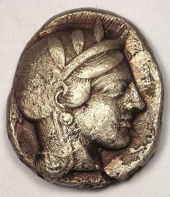 Ancient Athens Greece Athena Owl Tetradrachm Coin (454-404 BC) - VF (Very Fine)!