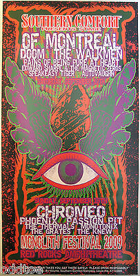 OF MONTREAL, CHROMEO- ORIGINAL 2009 Monolith Festival Poster by Lindsey Kuhn