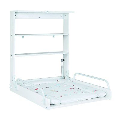 Changer diaper wall Babies with Mattress Adjustable Colour White Practical