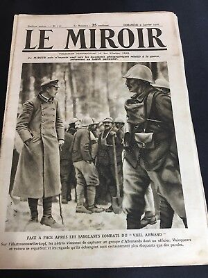 Real History!  WW1 French News Magazine Great Photos And Art Work! January 1916