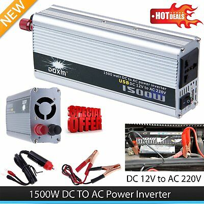 1500W Car DC 12V to AC 220V Power Inverter Charger Converter for Electronic H5