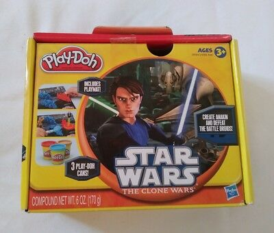 Star Wars Play-doh The Clone Wars Hasbro Playmat included Anakin Battle Droids