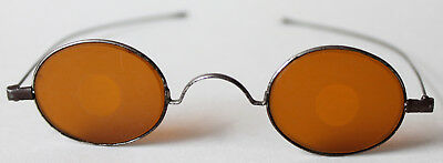 Antique Civil War Era Sharpshooters, Snipers Eyeglasses, Frosted Yellow Lens