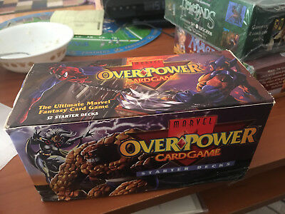 Marvel Over Power Card Game Starter Decks 12 Starter Decks New