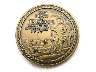Trumbull Connecticut 175th Anniversary Coin - Solid Bronze1972