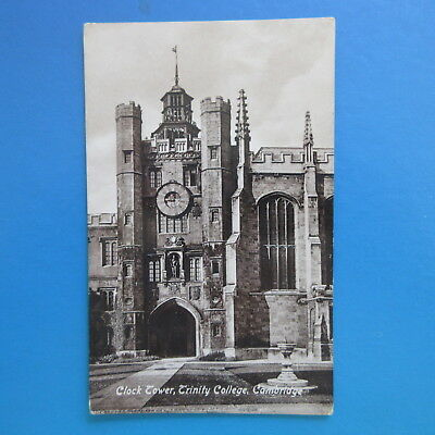 Very Old Postcard of Clock Tower. Trinity College, Cambridge.