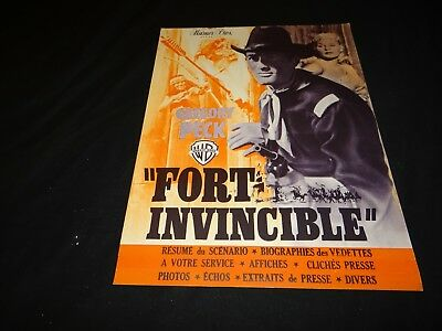 FORT INVINCIBLE Only the Valiant Gregory Peck dossier presse cinema western 1951