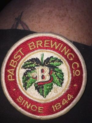 Embroidered PABST BREWING CO Beer Patch Since 1844