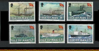 Isle of Man (Manx) MNH Stamps 1980 Mail Packet Ships