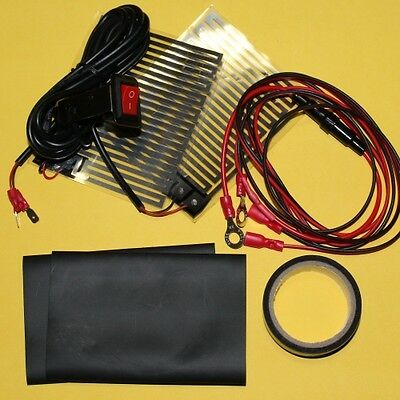 Bike Motorcycle Heated Grips Pads Kit 12V