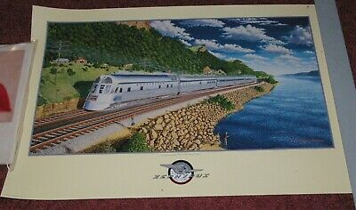 Burlington Route Large Print Streamlined Twin Cities Zephyr Mark Harland Johnson
