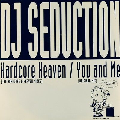 "7"" DJ SEDUCTION Hardcore Heaven JOHN KALKAN Techno FFRREEDOM orig.1992 like NEW!"