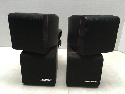 Pair of Bose Double Cube Red Line Acoustimass Black Speakers