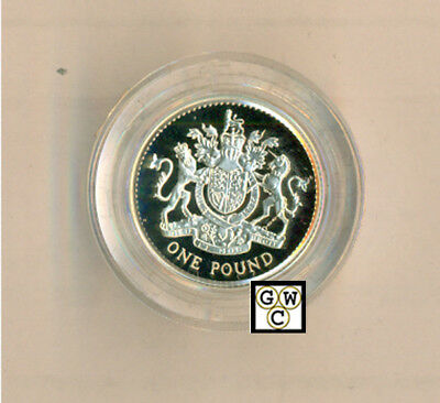 1998 United Kingdom Proof Sterling Silver Piedfort One Pound Coin (OOAK)