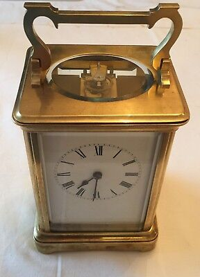 Very High Quality Brass Cased Carriage Clock
