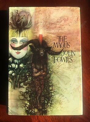 JOHN FOWLES 1st Edition First SIGNED Copy THE MAGUS w DJ 1966 HC Modern Novel