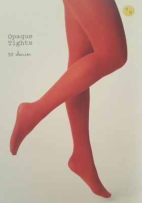 008b0310f41af A NEW DAY Opaque Tights Salsa 💃🏾 Red M/L New! Free Shipping ...