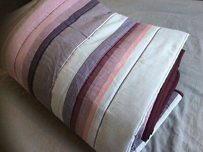 Next Purple Quilted Throw 150x200cm Stripes