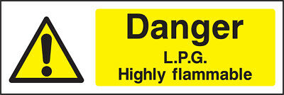 Warn0013 Danger Lpg Highly Flammable Sign Sticker Health Safety Warning