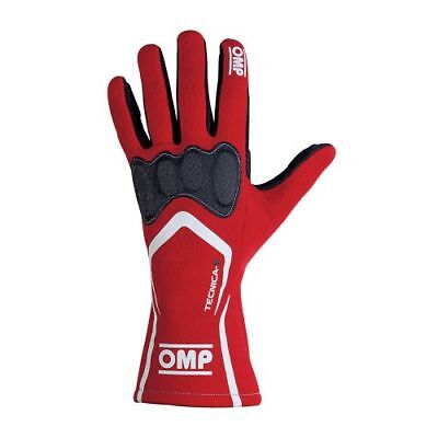 OMP Racing IB764RL Tecnica-S Driving Gloves Red (Size: Large)