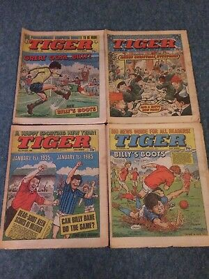 4 issues TIGER Comic  1984/85 FREE P&P
