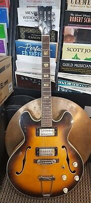 Voxtron Jazz Hollowody Electric Guitar For Parts Or Restoration