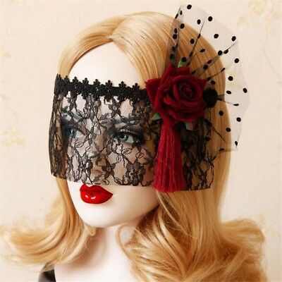 Sexy Lady Gothic Lace Veil Floral Eye MASK Masquerade Halloween Party Cosplay