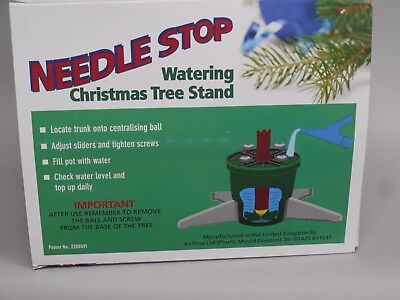 NEW Airflow Needle Stop Watering Real Christmas Tree Stand Pot Green Medium