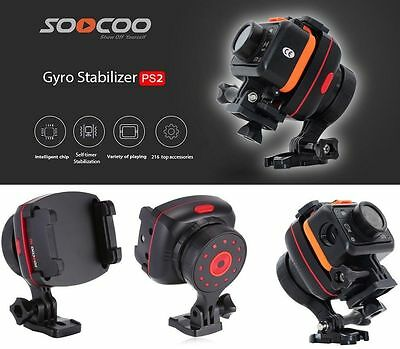 SOOCOO PS2 Action Sports For SJCAM GoPro Camera Stabiliser 1-Axis Wearable