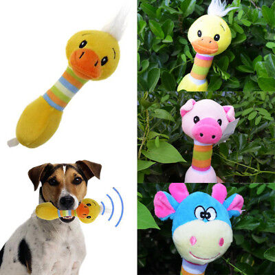 Funny Animal Shape Soft Plush Pet Puppy Dog Toys Sonido Squeaky Chew Toy Gifts