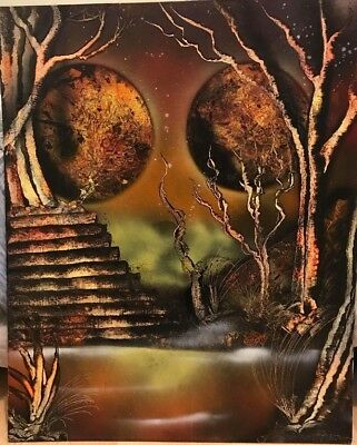"""Fantasy art Hand painted spry artist size 22"""" x 18"""""""