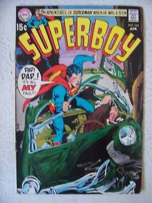 SUPERBOY #164 FINE+      NEAL ADAMS cover