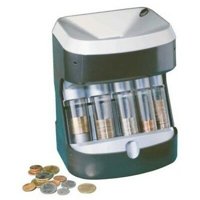 Motorized Coin Sorter Accu Wrapper coin roll pennies quarters dollar coins money