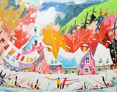 "ORIGINAL painting 16""x20"" Serge Nadeau Québec Canada Artist  Acrylic on canvas"